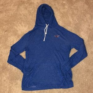 Hollister blue hoodie in gently used condition